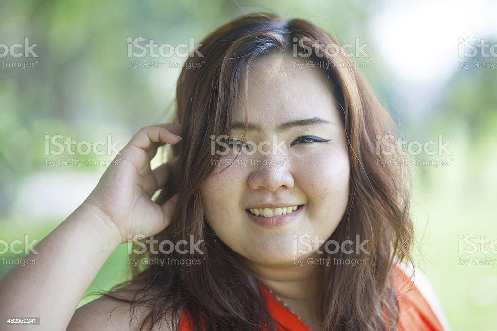 Close up of happy a woman stok fotoğrafı