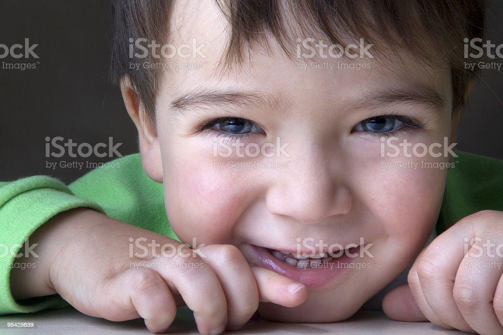 close up of happy preschooler royalty-free stock photo