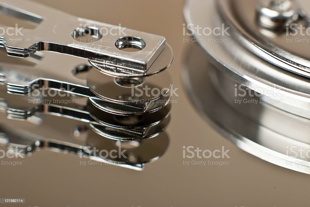 Close up of hard disk drive royalty-free stock photo