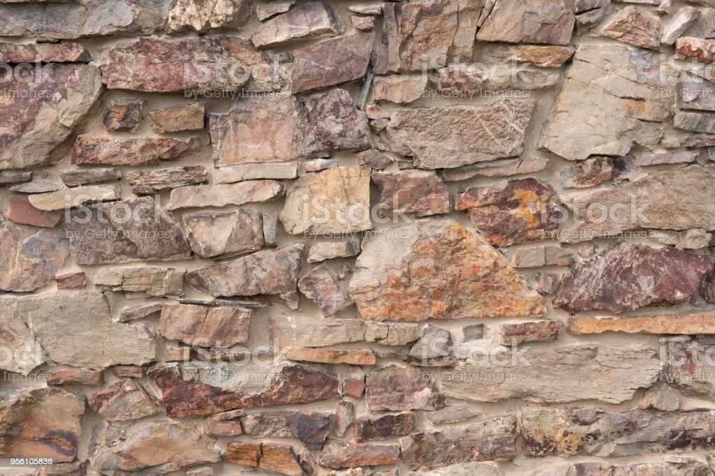 Close up of historic stone wall stock photo