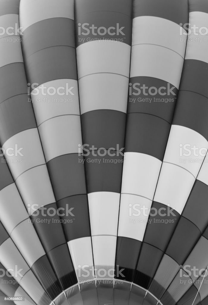 Close Up of Hot Air Balloon Pattern in Black and White stock photo