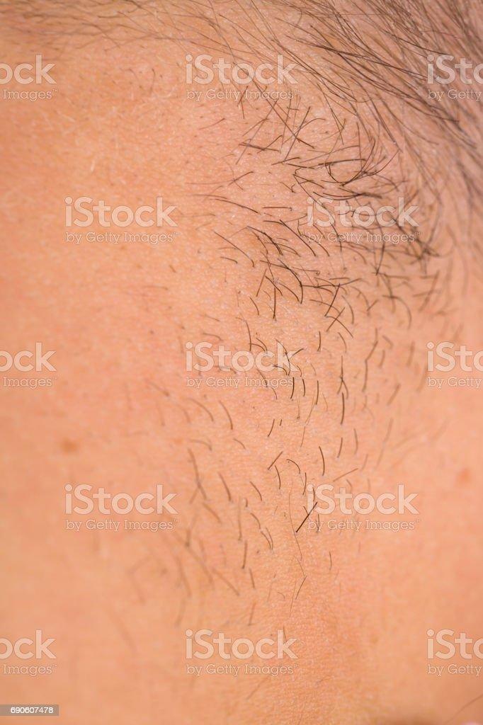 Close up of human skin stock photo