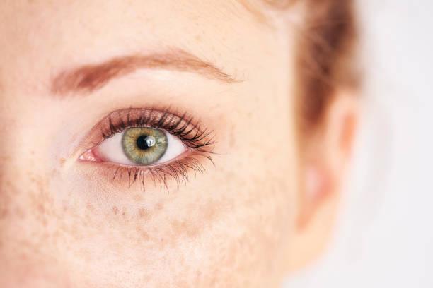 close up of human's, left, green eye - natureza close up imagens e fotografias de stock