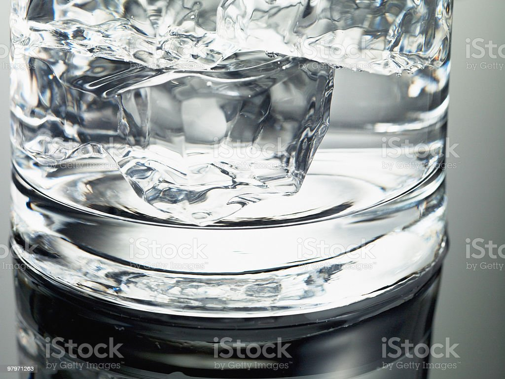 Close up of ice cubes in glass royalty-free stock photo