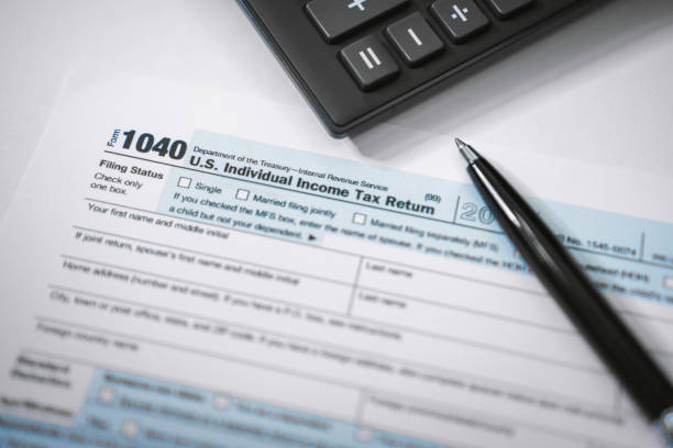 Close Up of Income Tax Form Tax Planning. Close Up of Income Tax Form. 1040 tax form stock pictures, royalty-free photos & images
