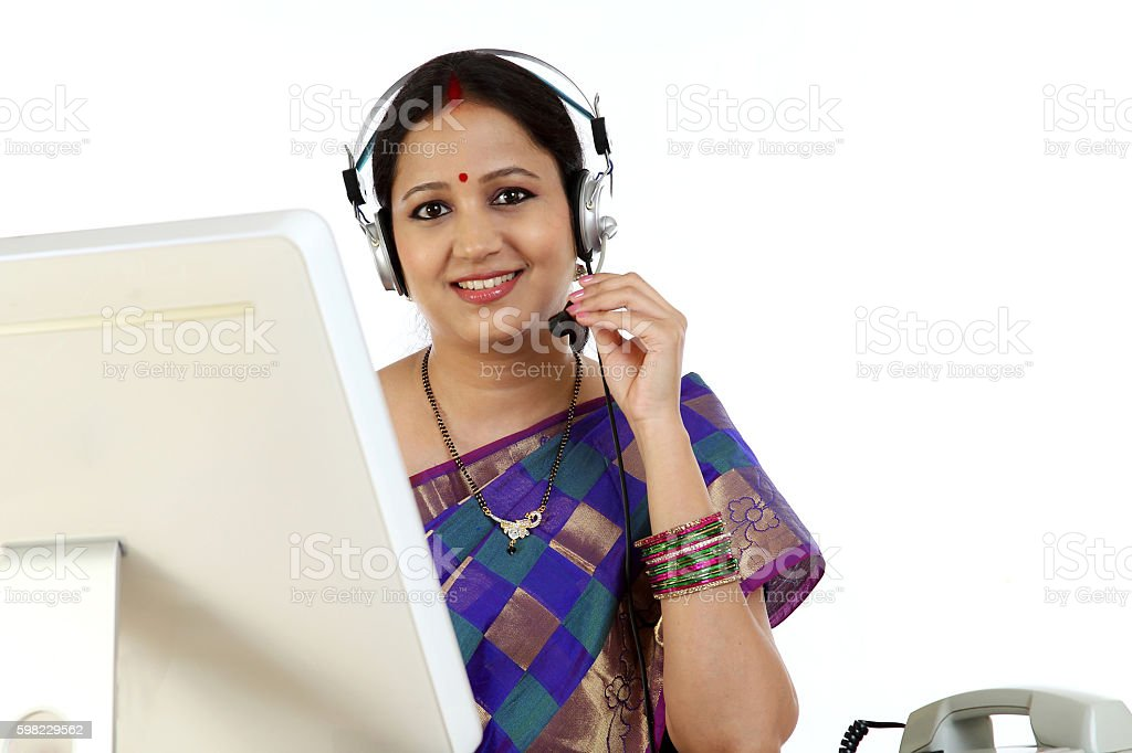 close up of Indian business customer service person in office foto royalty-free