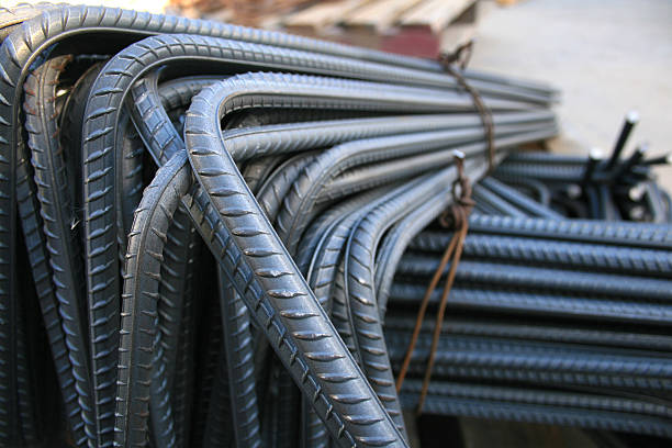 Close up of iron rods used for construction A pile of construction rod rod stock pictures, royalty-free photos & images