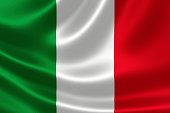 Close up of Italy's Flag