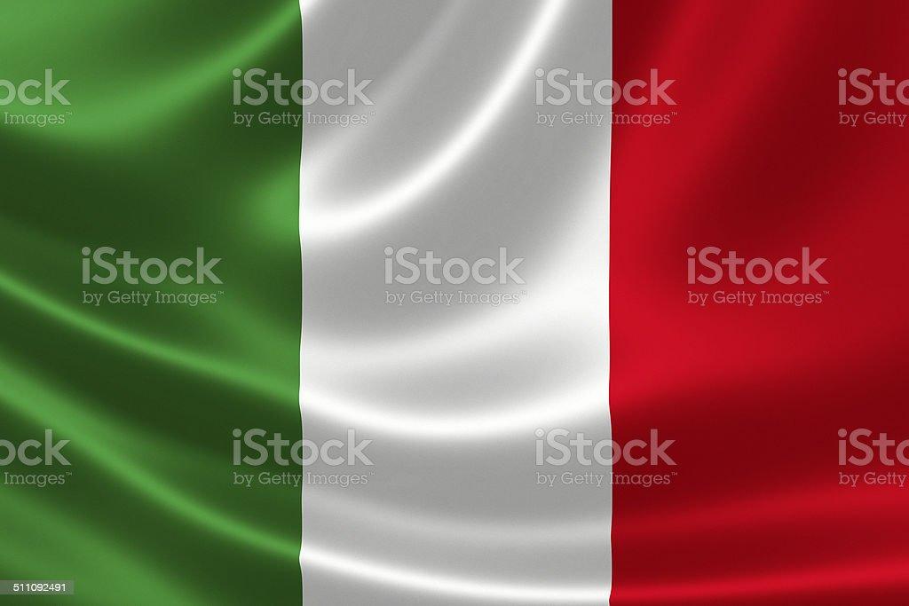 Primer plano de bandera de Italia - foto de stock