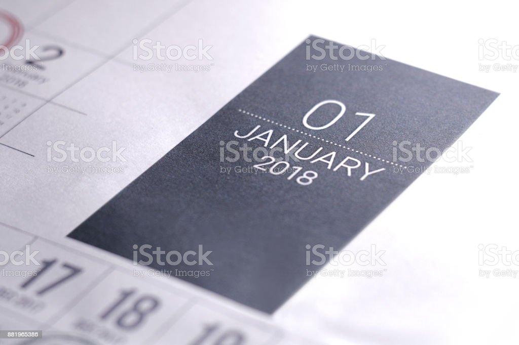 Calendario Del Ano 1965.Cerca De Enero De 2018 Calendario Diario Foto De Stock Y Mas