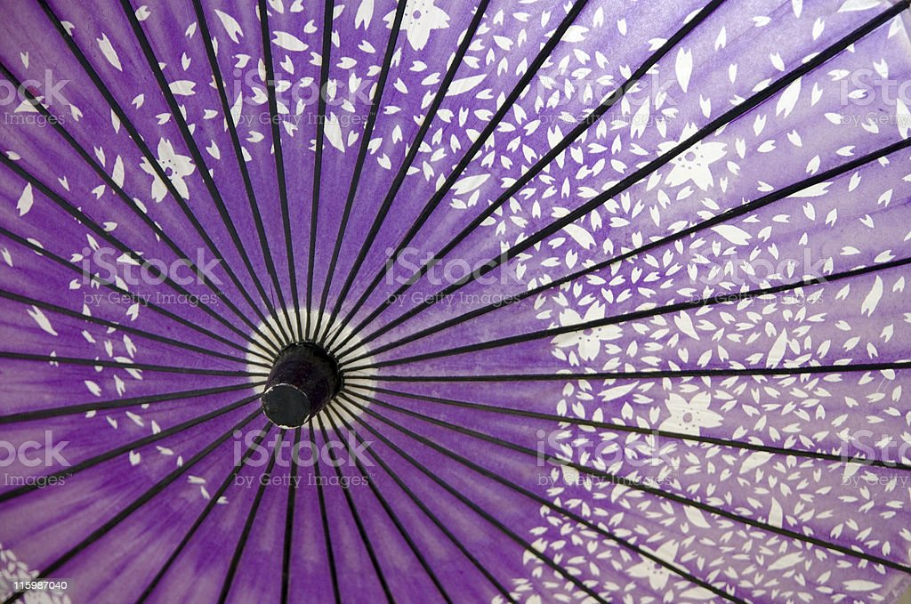 Close up of Japanese umbrella stock photo