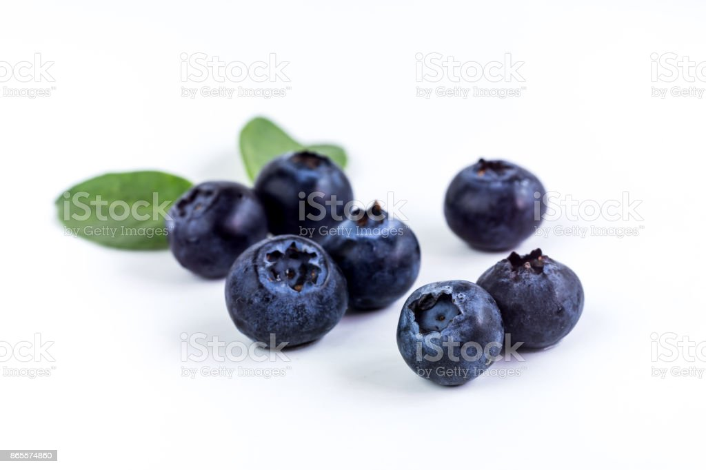 Close up of Juicy and fresh blueberries, Macro, Healthy eating stock photo