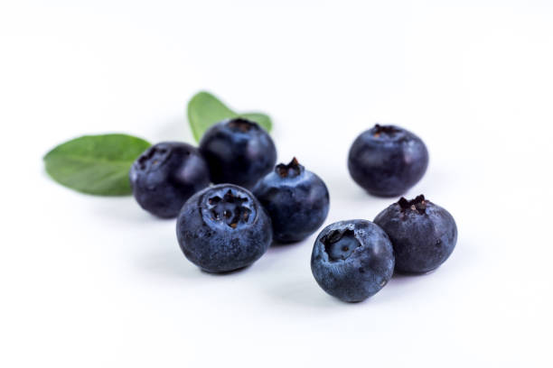 close up of juicy and fresh blueberries, macro, healthy eating - blueberry stock photos and pictures
