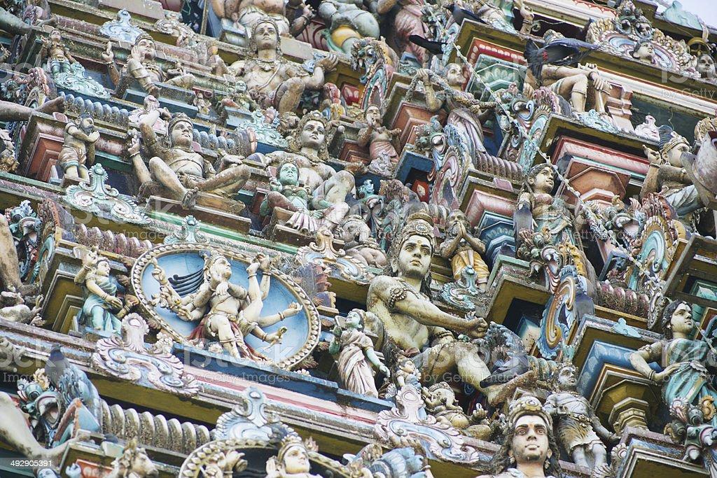 Close up of Kapaleeswarar temple in Chennia stock photo