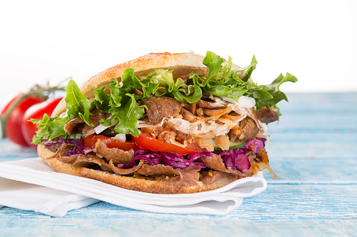 Close Up Of Kebab Sandwich Stock Photo - Download Image Now