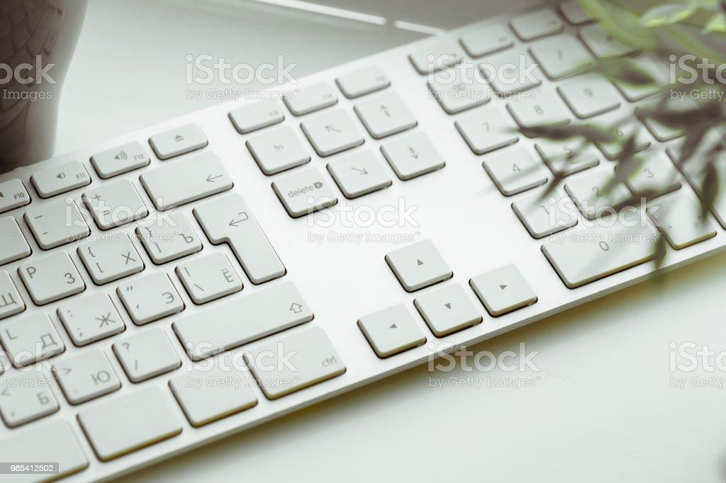 Gros plan du clavier - Photo de Blanc libre de droits