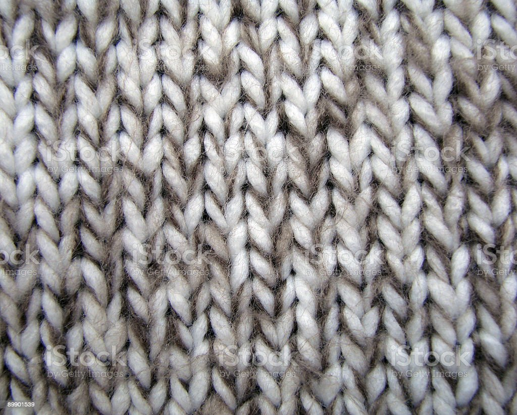 Close up of knitted wool royalty-free stock photo