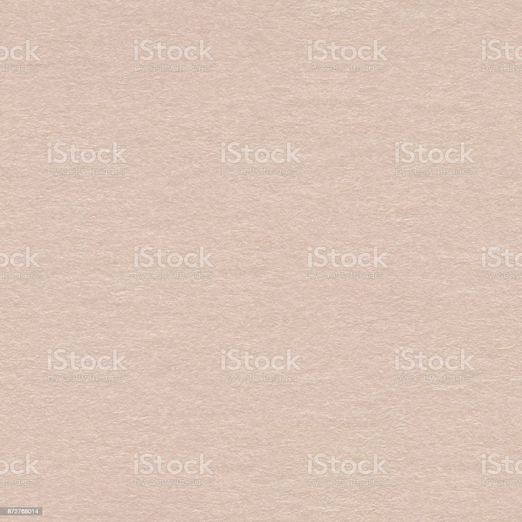 Close up of light beige paper texture. Seamless square backgroun stock photo