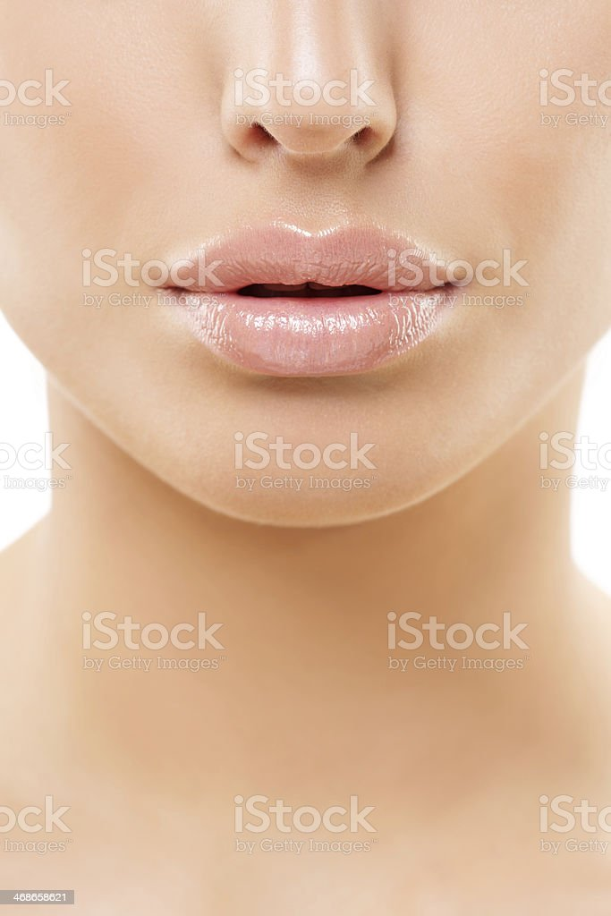 close up of lips stock photo