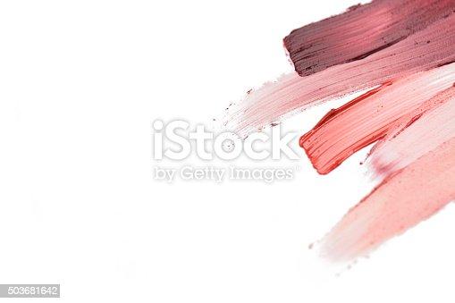 istock close up of lipstick smear sample 503681642