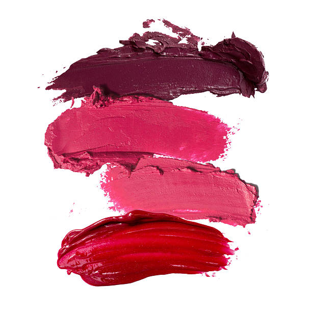 close up of lipstick stroke stock photo