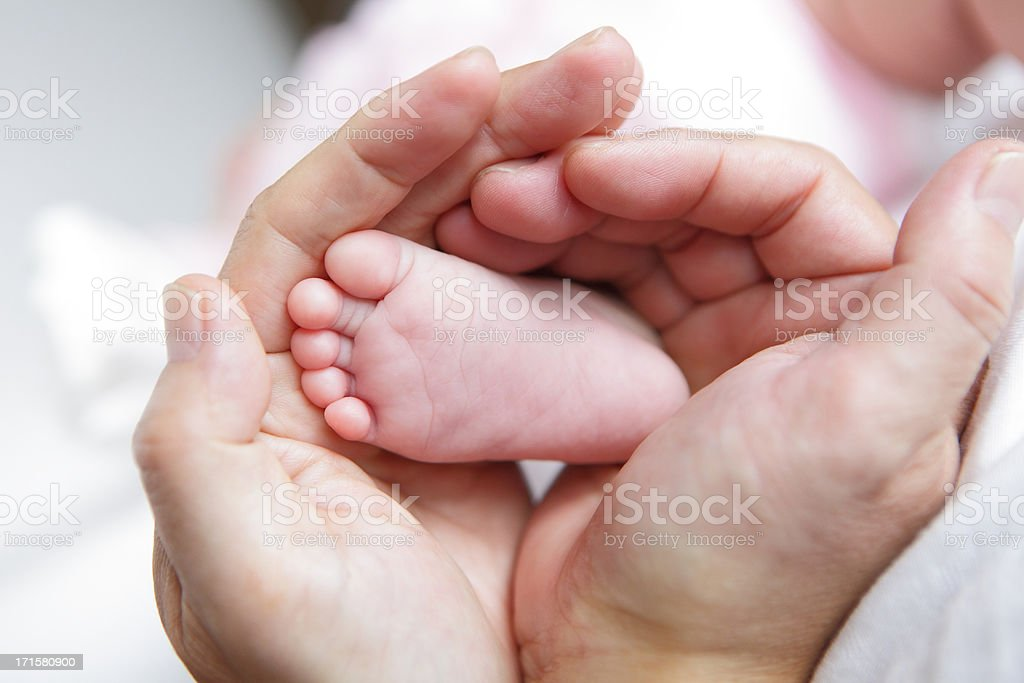 close up of Little baby feet stock photo