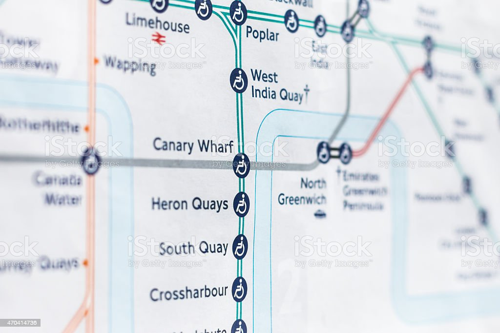 London Light Rail Map.Close Up Of London Dlr On Map Stock Photo Download Image Now Istock