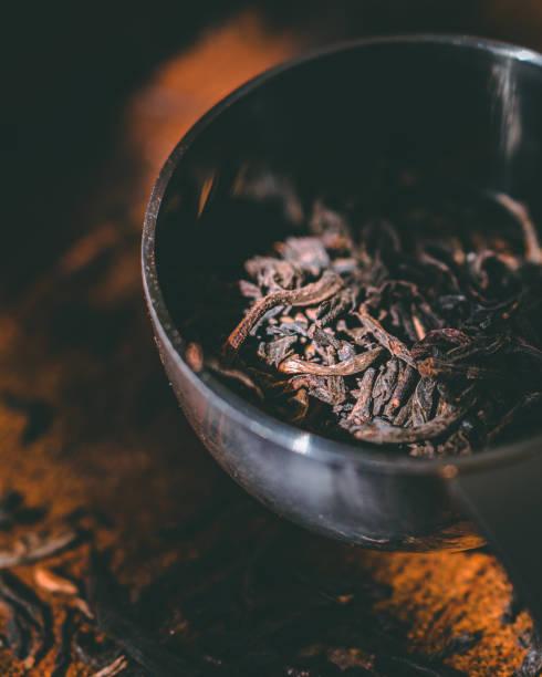 Close up of loose leaf tea stock photo