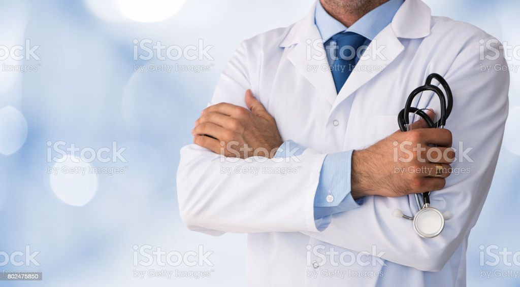 Close up of male doctor stock photo