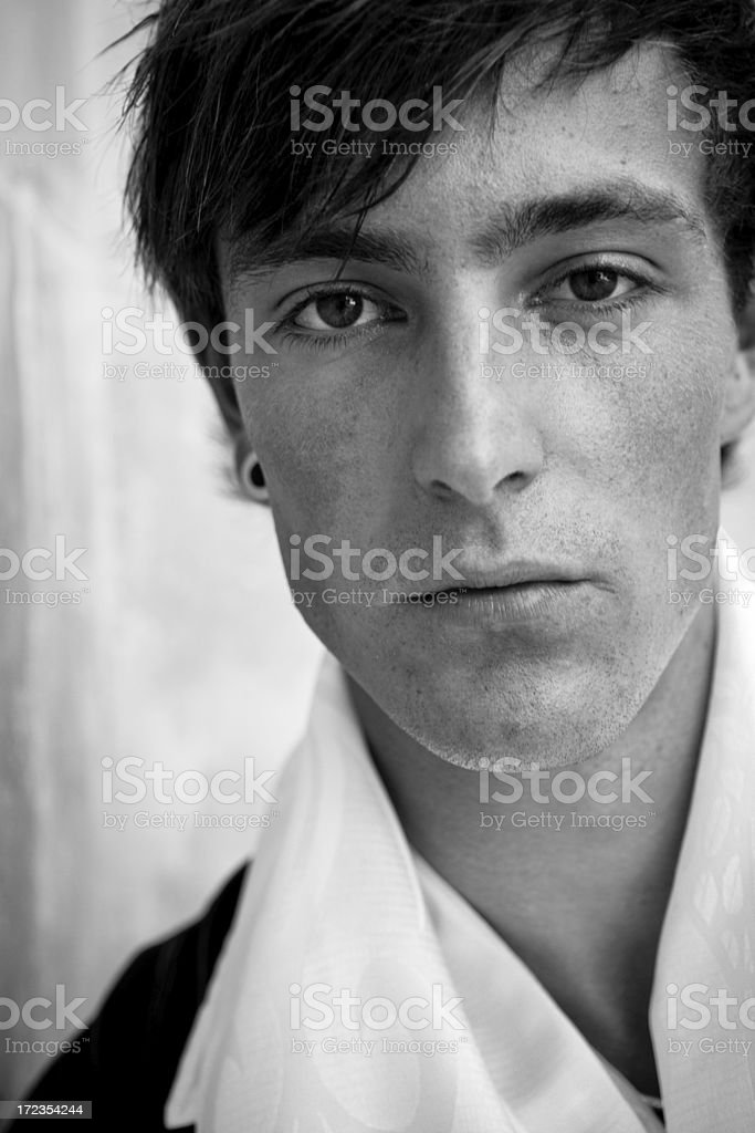 Close up of male model royalty-free stock photo