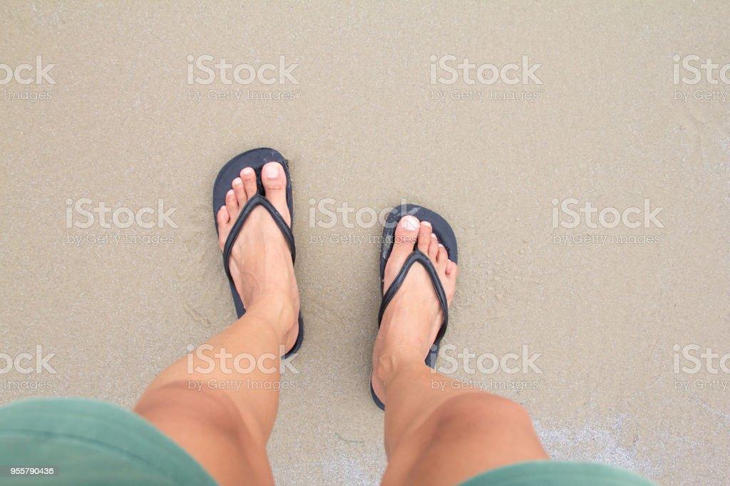 Noir gros chaussons