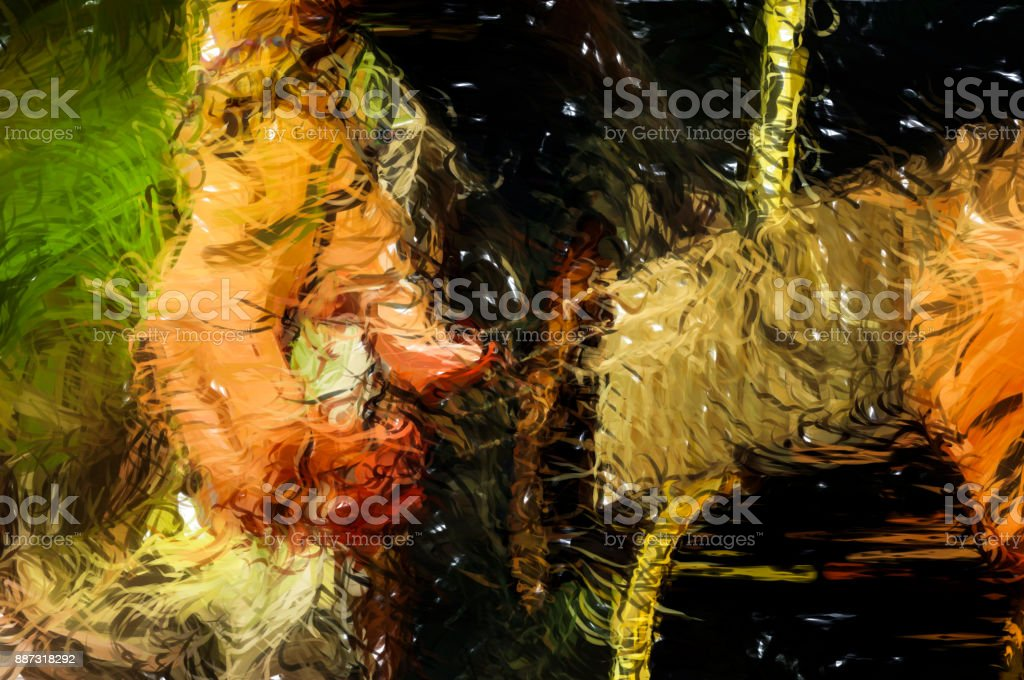 Close up of man playing guitar - Digital Illustration stock photo
