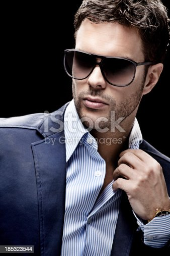 Close Up Of Man Wearing Sunglasses Stock Photo & More Pictures of Adult