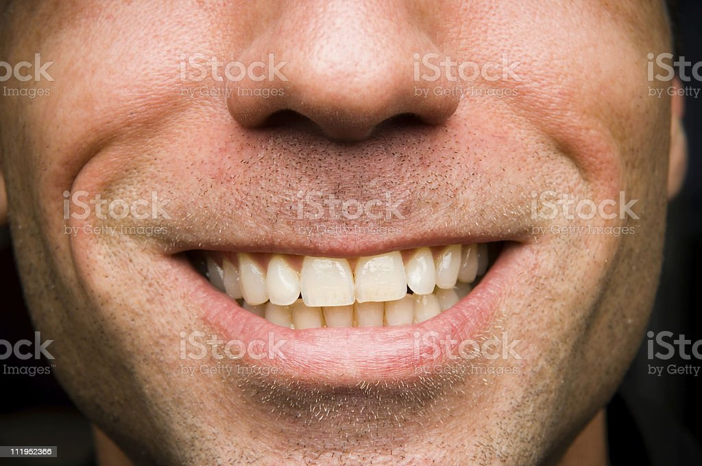 Close Up of Man's Face Smiling royalty-free stock photo