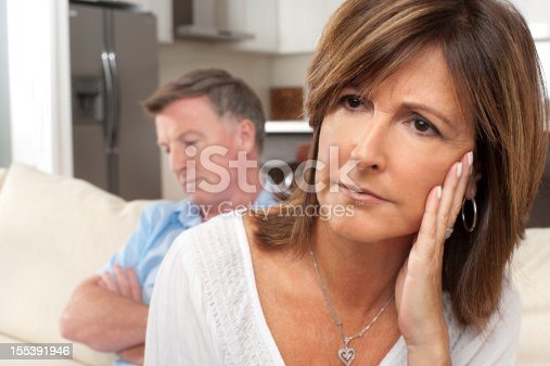 istock Close up of mature couple fighting 155391946