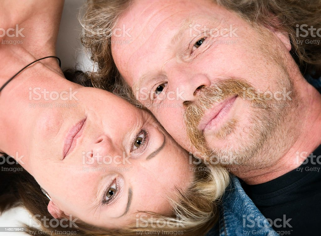 close up of mature couple royalty-free stock photo