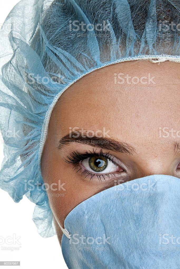 Close up of medical professional royalty-free stock photo