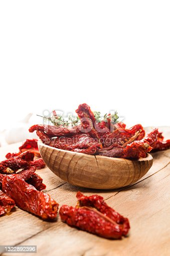 istock Close up of Mediterranean dried tomatoes 1322892396