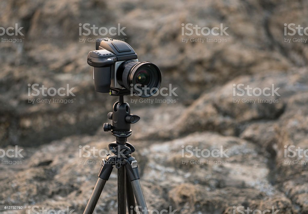 Close up of medium format camera stock photo