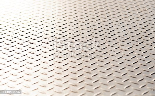 Close up of metal plate background.