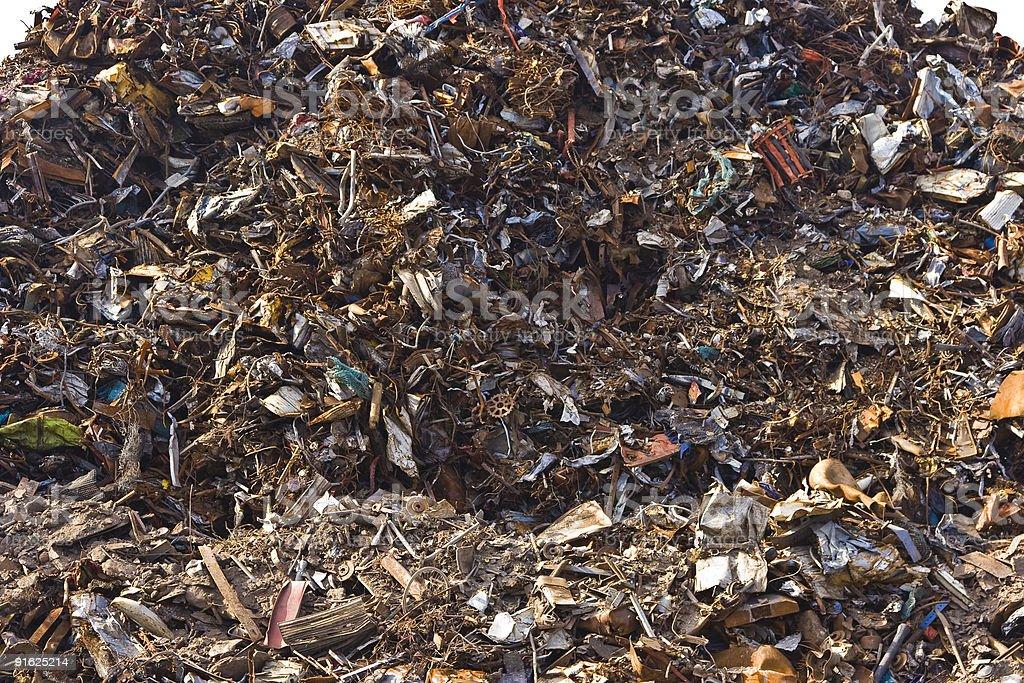 Close up of metal scrap royalty-free stock photo