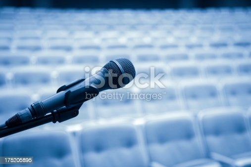 508658652istockphoto Close Up of Microphone In Bluetone 175205895