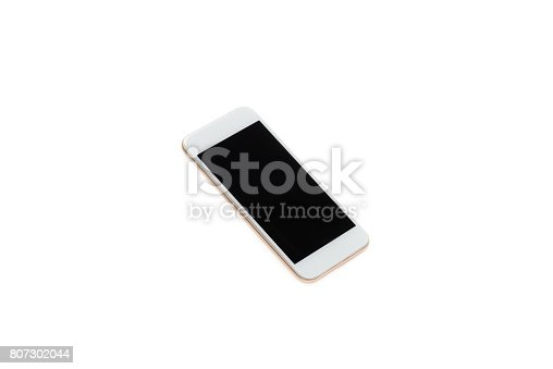 istock close up of modern smartphone with blank screen isolated on white 807302044
