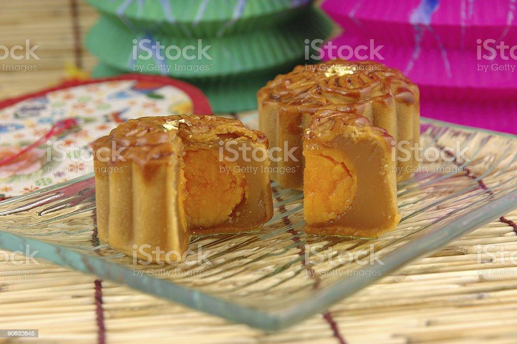 Close up of mooncake royalty-free stock photo