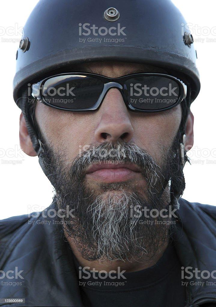 Close up of Motorcycle Biker royalty-free stock photo