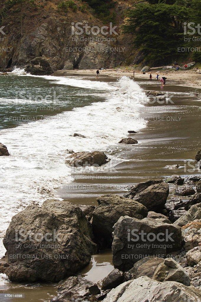 Close up of Muir Beach stock photo