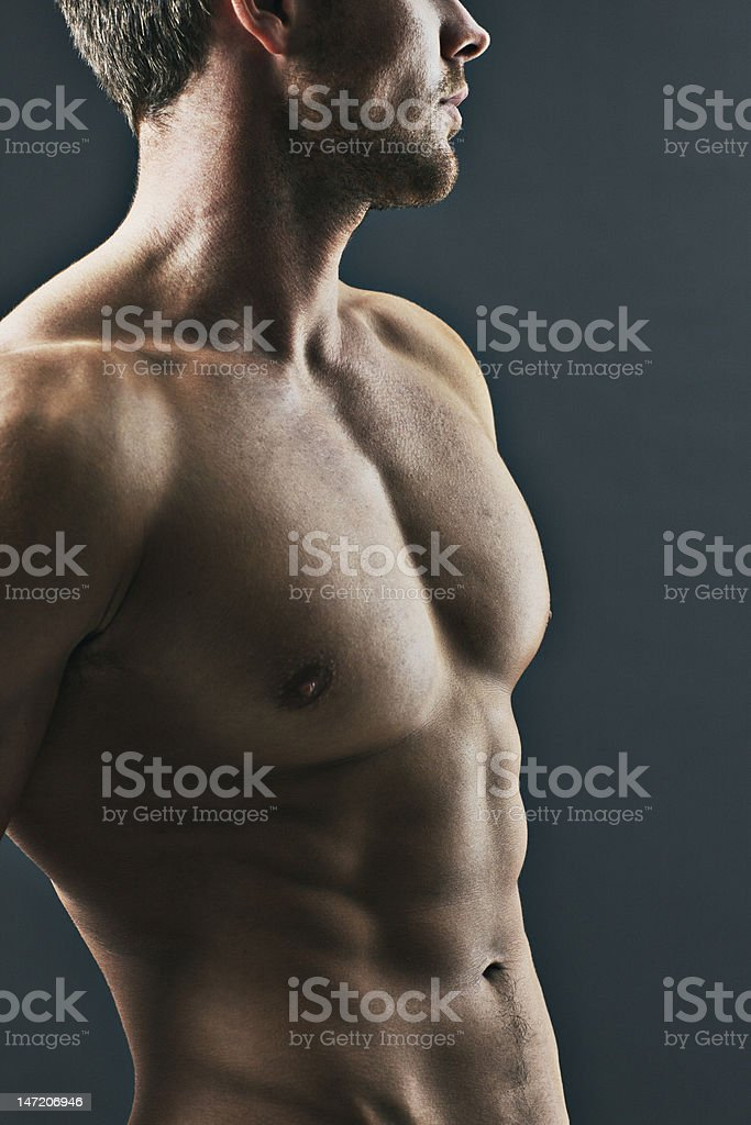 Close up of muscular man royalty-free stock photo