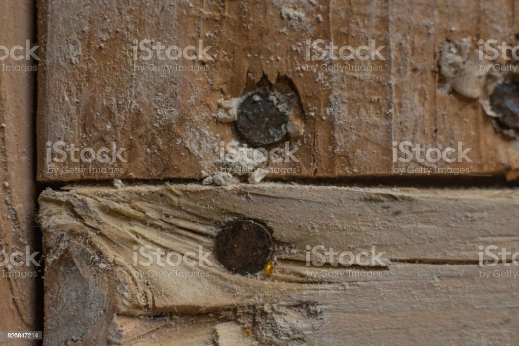 Close Up Of Nails In 2x4 Stock Photo & More Pictures of Bathroom ...