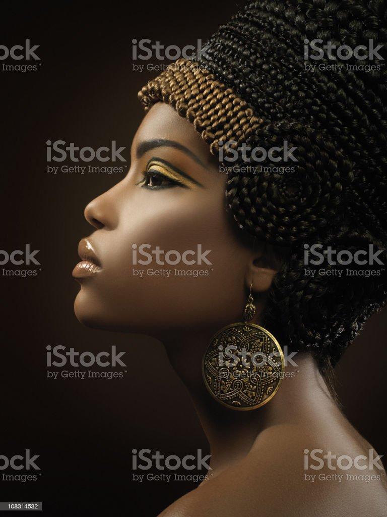 close up of Nefertity royalty-free stock photo