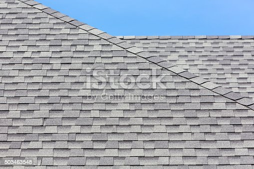 istock Close up of new rubber roof tiles 503463548